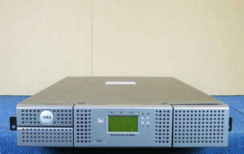 Dell Powervault TL2000 Rackmount Backup Tape Library LTO3 SCSI 2 x tape magazine